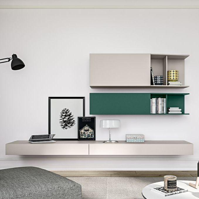 Parete attrezzata per soggiorno moderna / in legno laccato - LIVE-12 ...
