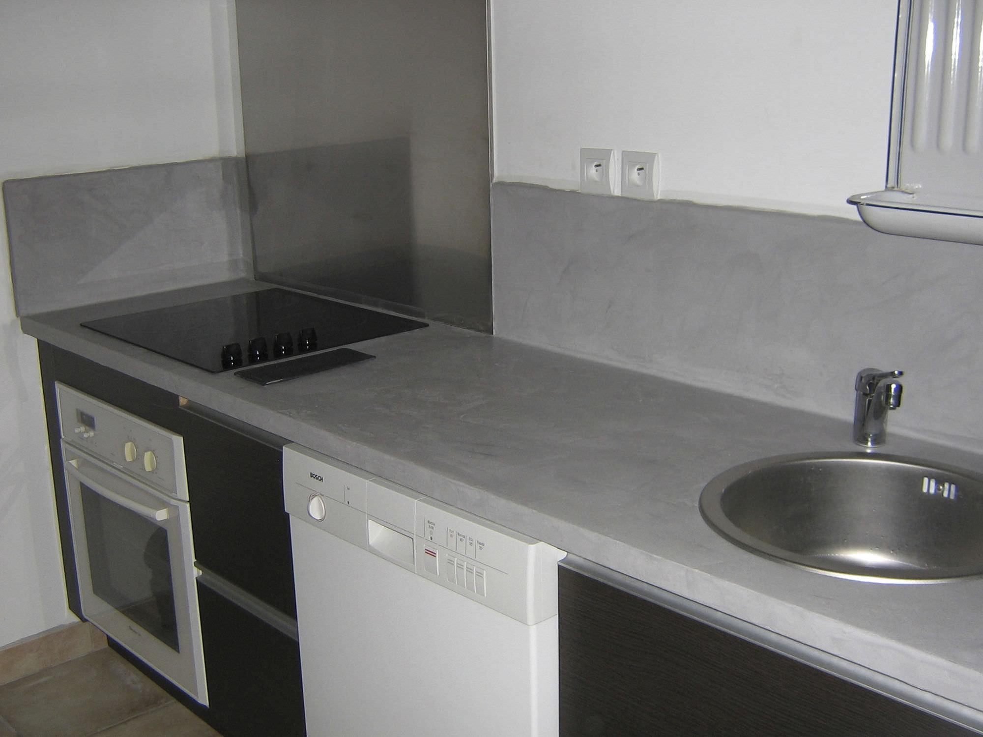 Piano di lavoro in calcestruzzo / da cucina - BC23 - ROUVIERE