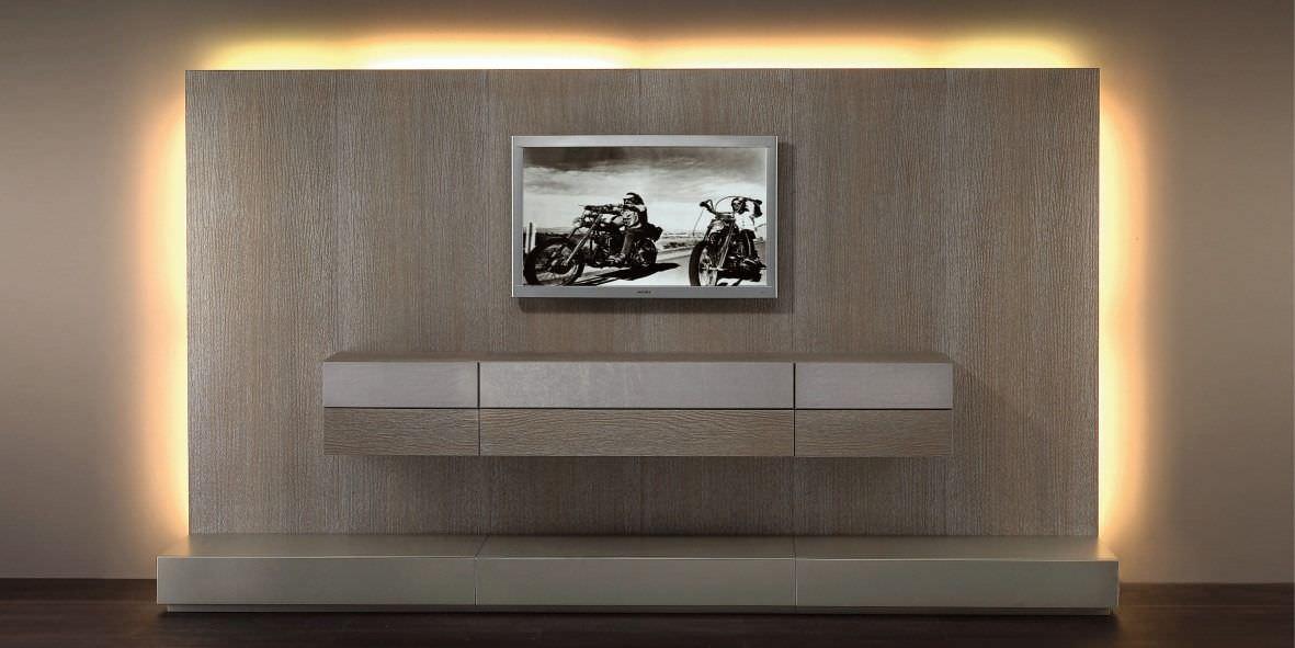 parete attrezzata tv moderno / in legno - hc66 - valentini mobili ... - Mobili Moderni Legno