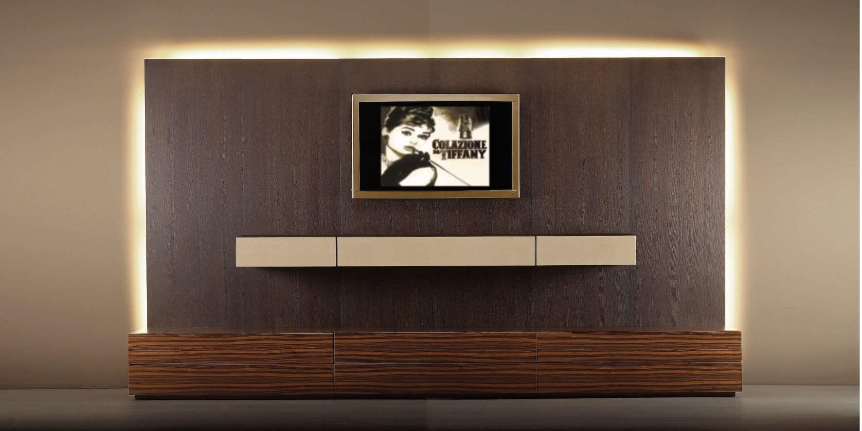 Parete attrezzata TV moderno / in legno - valentini mobili s.r.l.