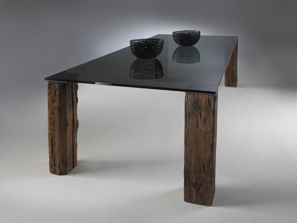 Tavolo moderno / in vetro / da esterno - ISACCO by Roberto Provenzi ...