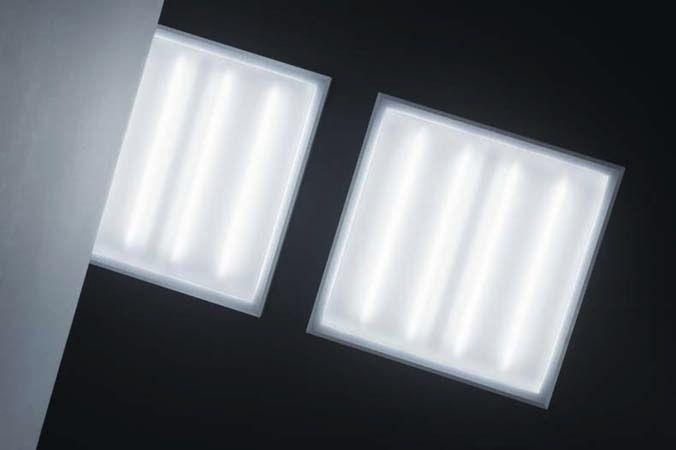 Plafoniere Per Lampade Fluorescenti : Plafoniera moderna quadrata in plastica a lampada fluorescente