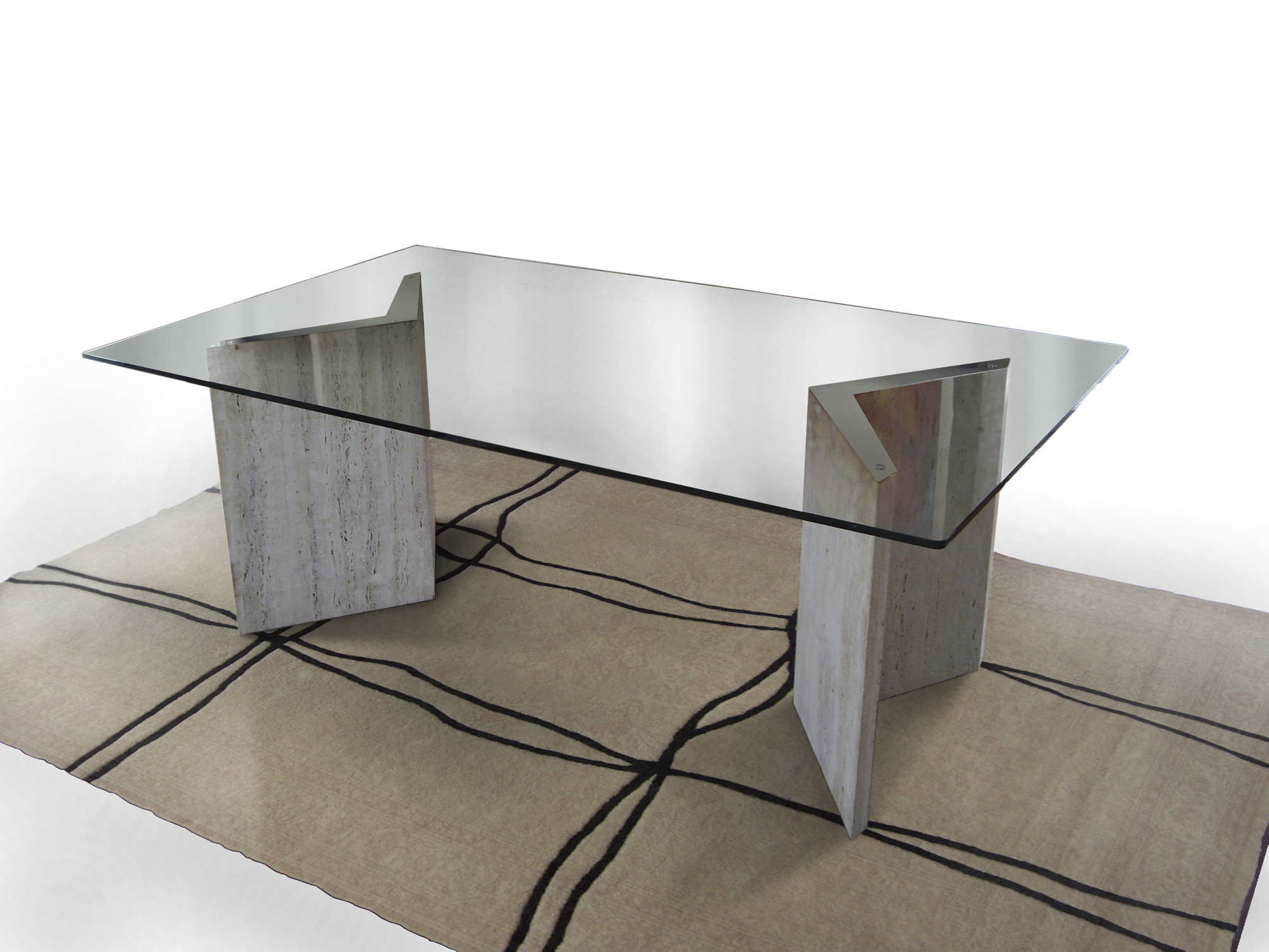 Tavolo in ferro e vetro: tavolo rotondo in ferro battuto e vetro ...