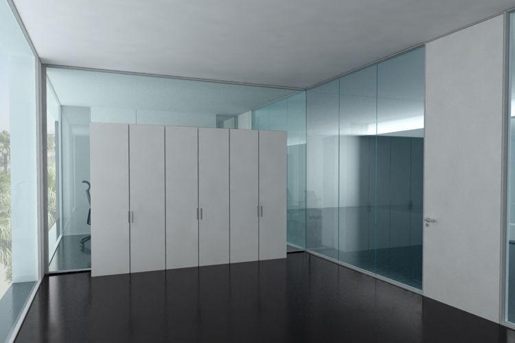 Box Per Ufficio : Parete attrezzata per ufficio in vetro flat box flat by artis