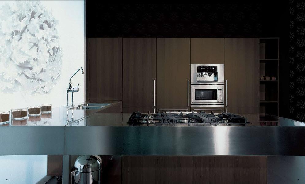 Cucina moderna / in legno / in acciaio inox / in legno massiccio ...