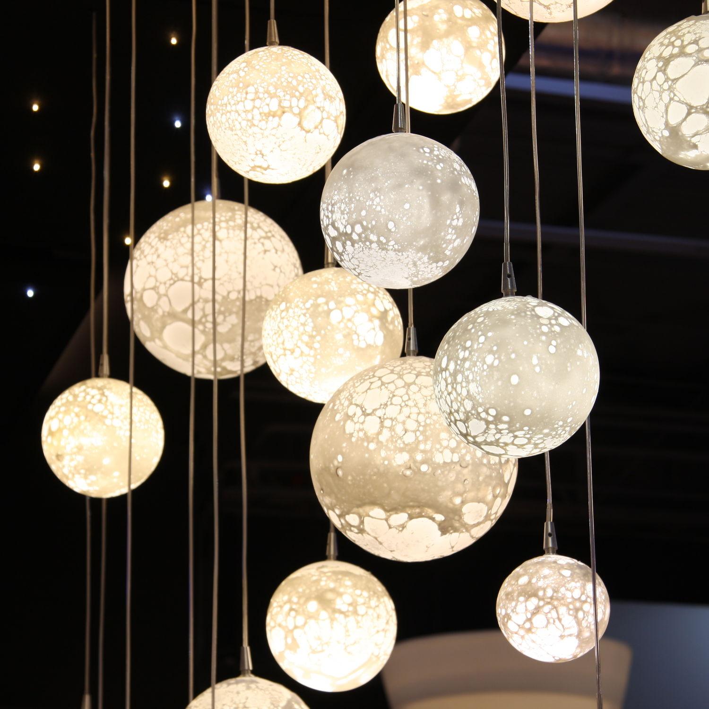 Lampadario moderno in vetro soffiato led ÉtoilÉ lunes