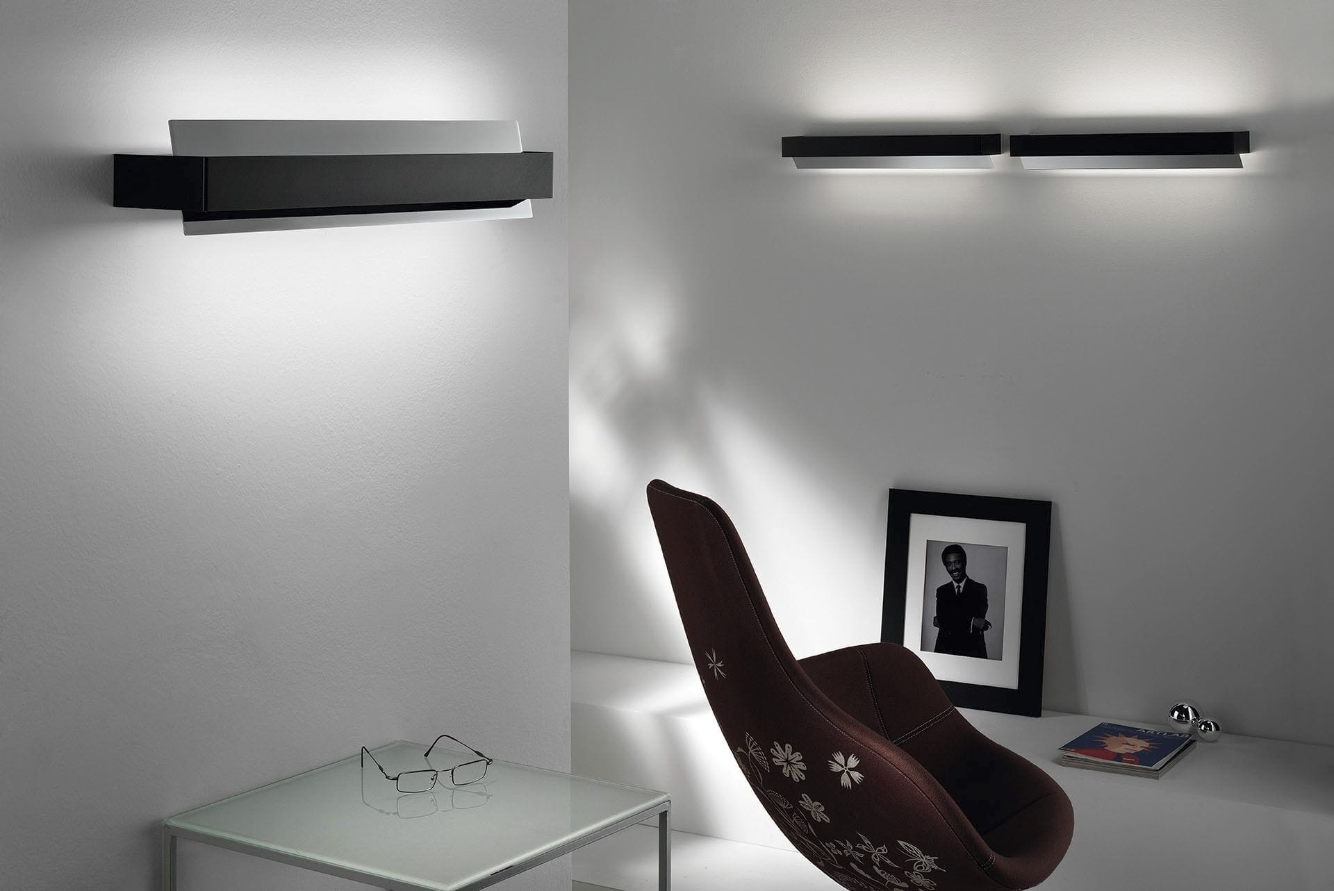 Applique moderna in metallo led bianca volta braga f lli