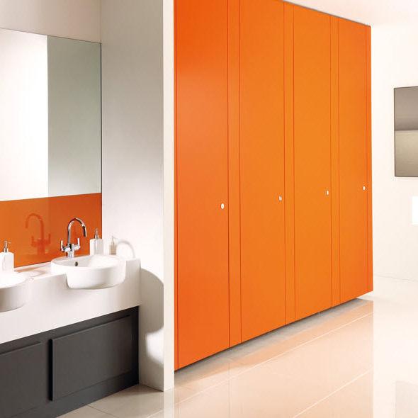 Cabina WC per bagno pubblico / in laminato - UNITY - Venesta - Video