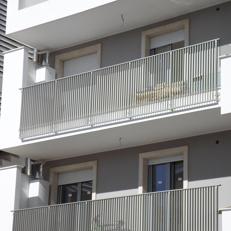 Ringhiera in alluminio / a sbarre / da esterno / per balcone ...