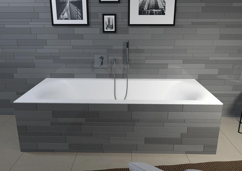 Vasca Da Bagno White : Vasca da bagno da incasso in acrilico linares mat velvet