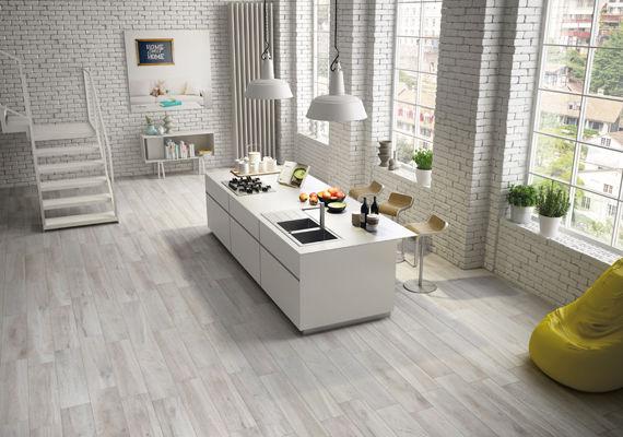 Piastrella da cucina da pavimento in gres porcellanato opaca