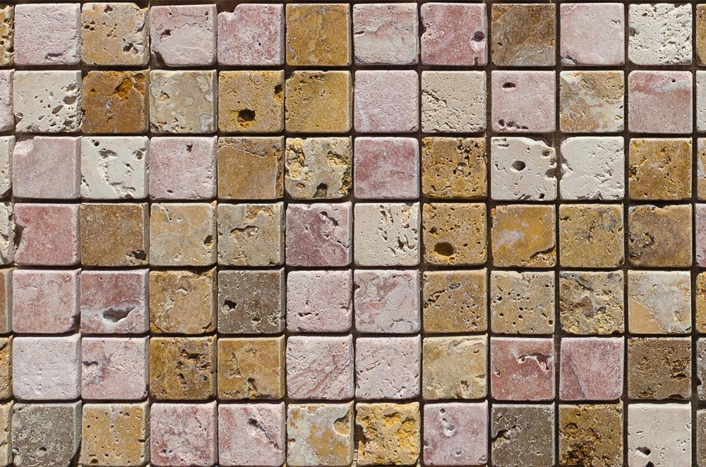 Mosaico da bagno da parete in pietra naturale a tinta unita