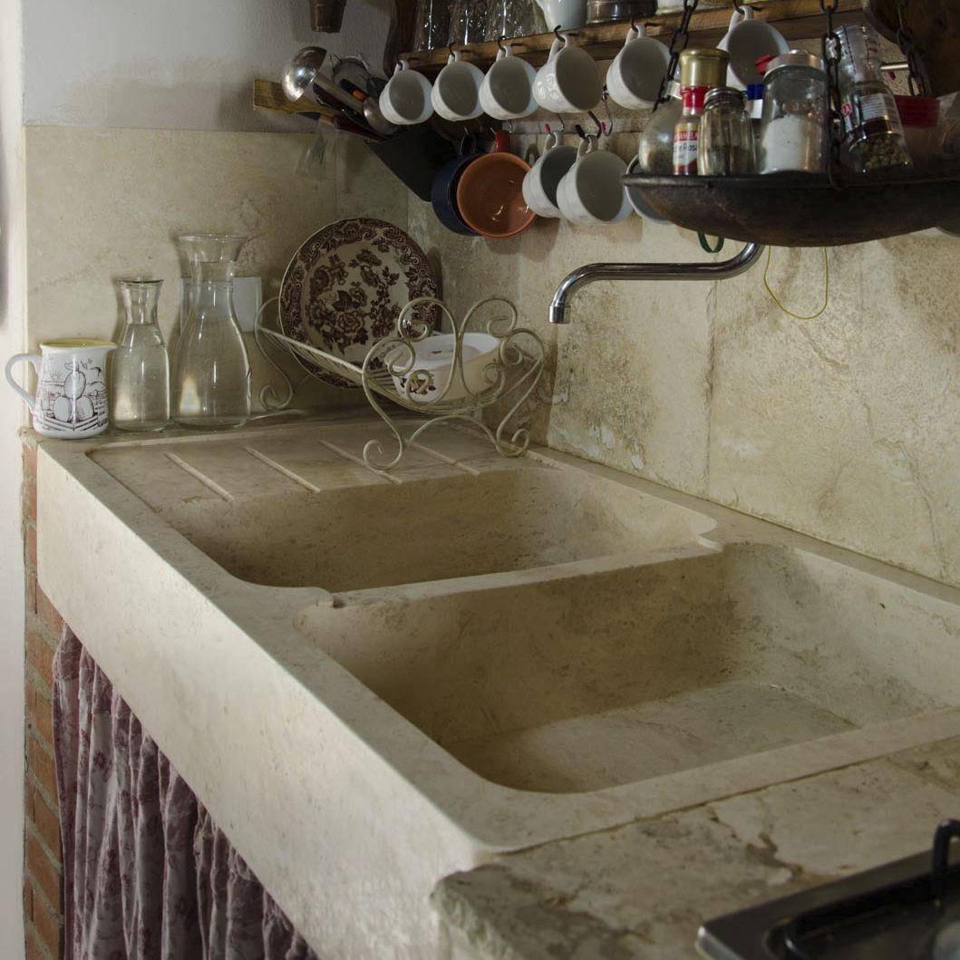 Lavello a 2 vasche / in pietra / con gocciolatoio - COUNTRY - PIETRE ...