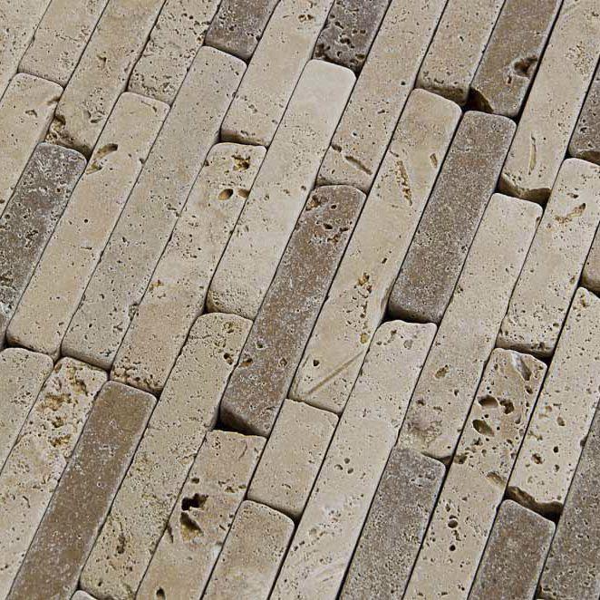 Mosaico Da Bagno Da Esterno Da Parete In Travertino Muretto