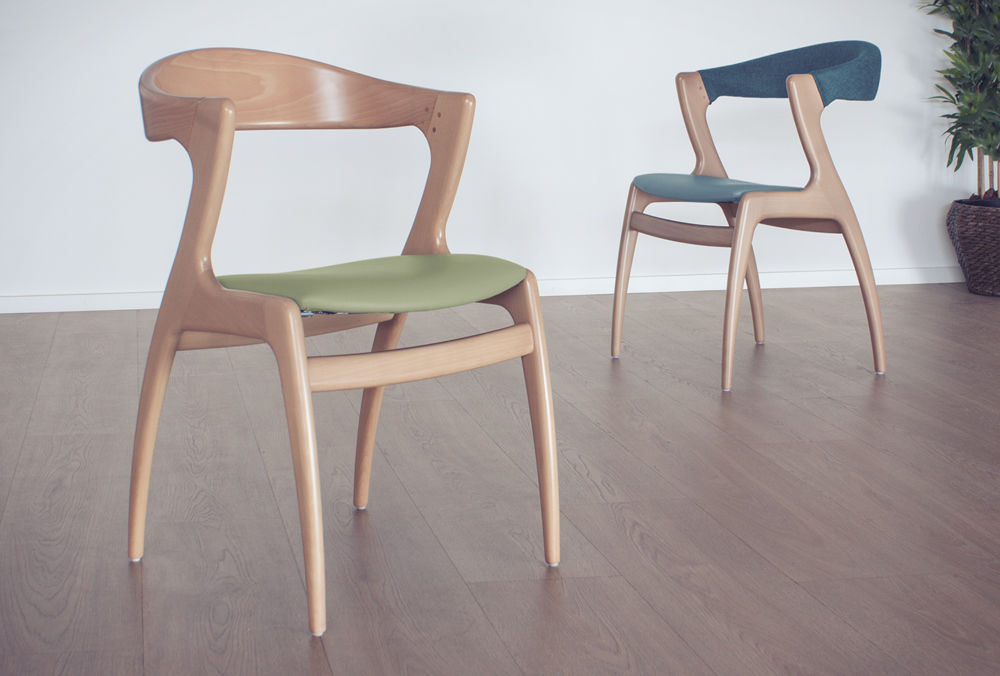 Sedia moderna in legno per uso contract gazelle cmcadeiras