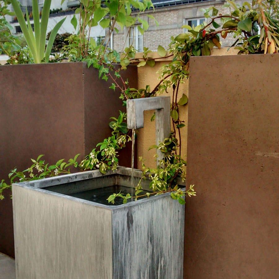 Fontana da giardino / in zinco titanio   fontaine bassin zinc a ...