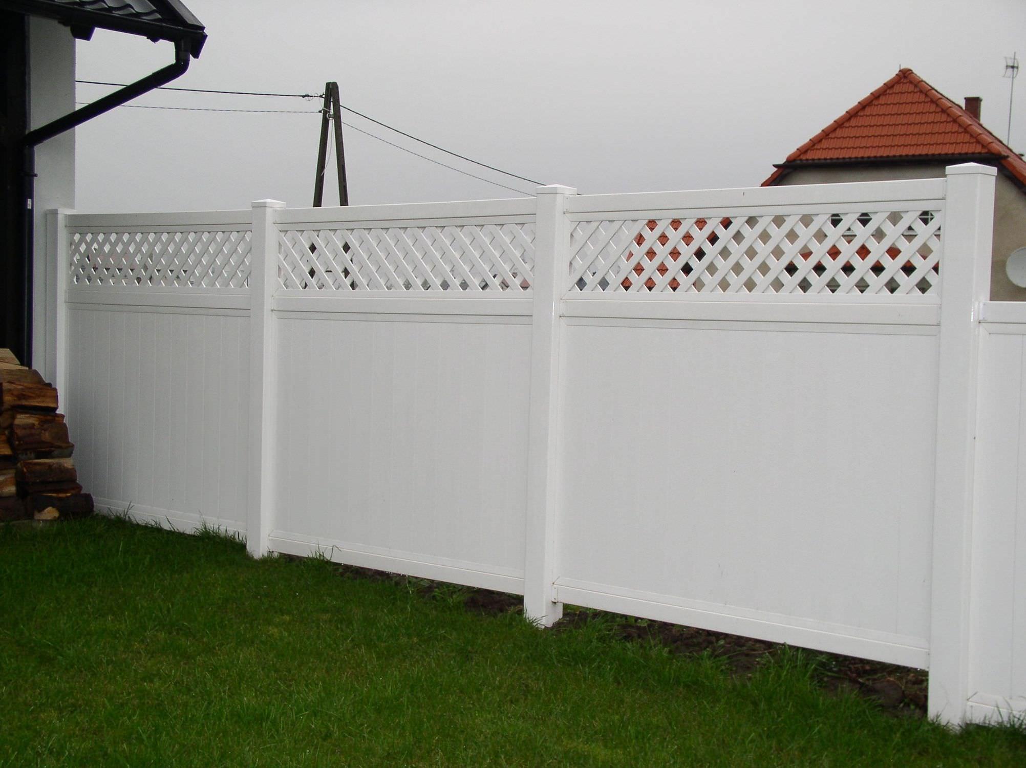 Recinzioni Da Giardino In Pvc : Recinzione da giardino in pvc hoarding open work top fence