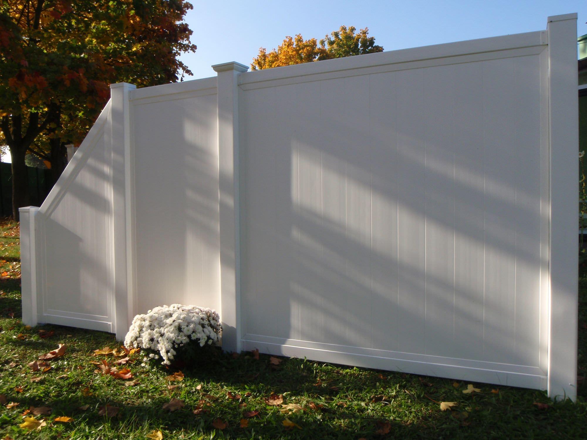 Recinzioni Da Giardino In Pvc : Recinzione da giardino in pvc hoarding solid top fence