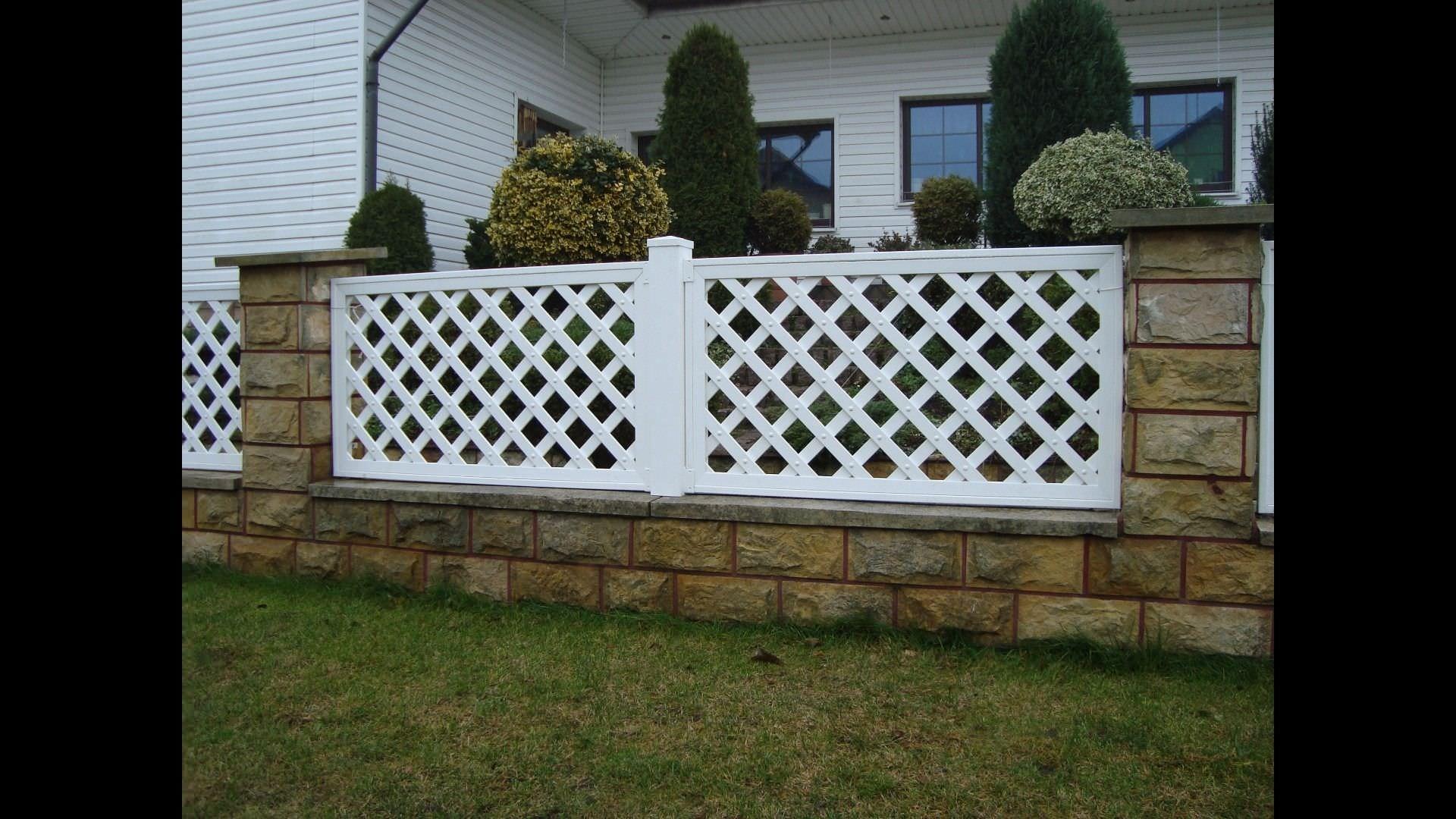 recinzione da giardino / in pvc - pergola grid skew fence - top fence - Recinzioni Da Giardino In Pvc