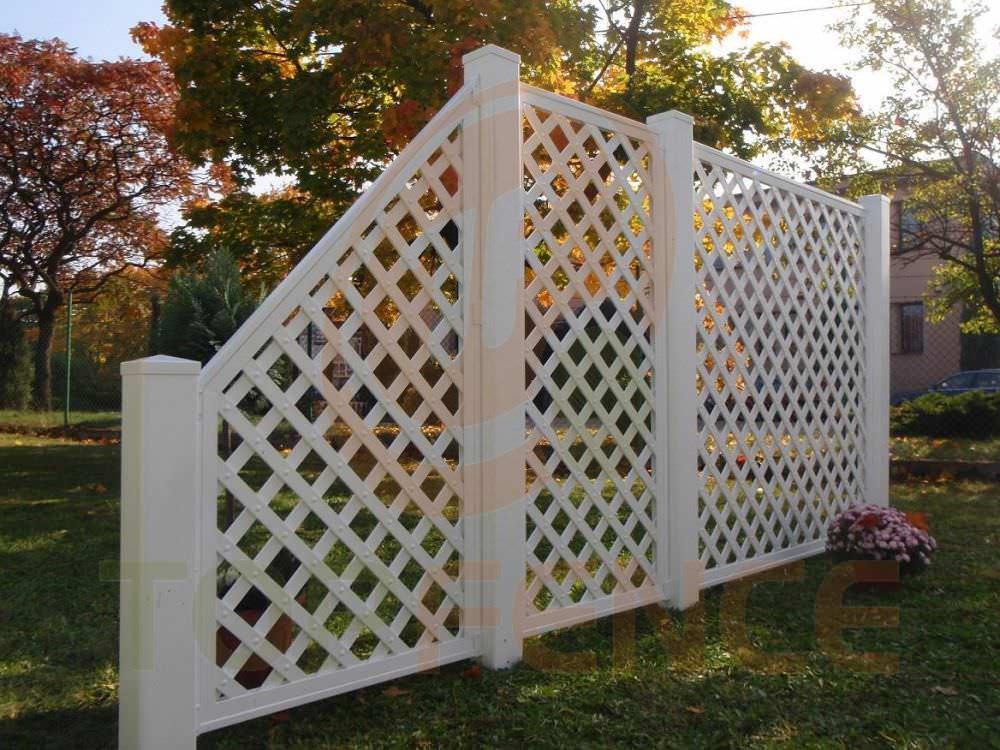 recinzione da giardino / in pvc - hoarding open work - top fence - Recinzioni Da Giardino In Pvc