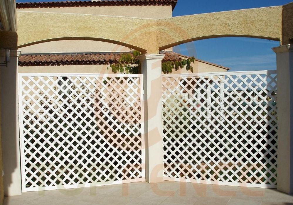 Recinzioni Da Giardino In Pvc : Recinzione da giardino in pvc pergola grid skew fence top fence