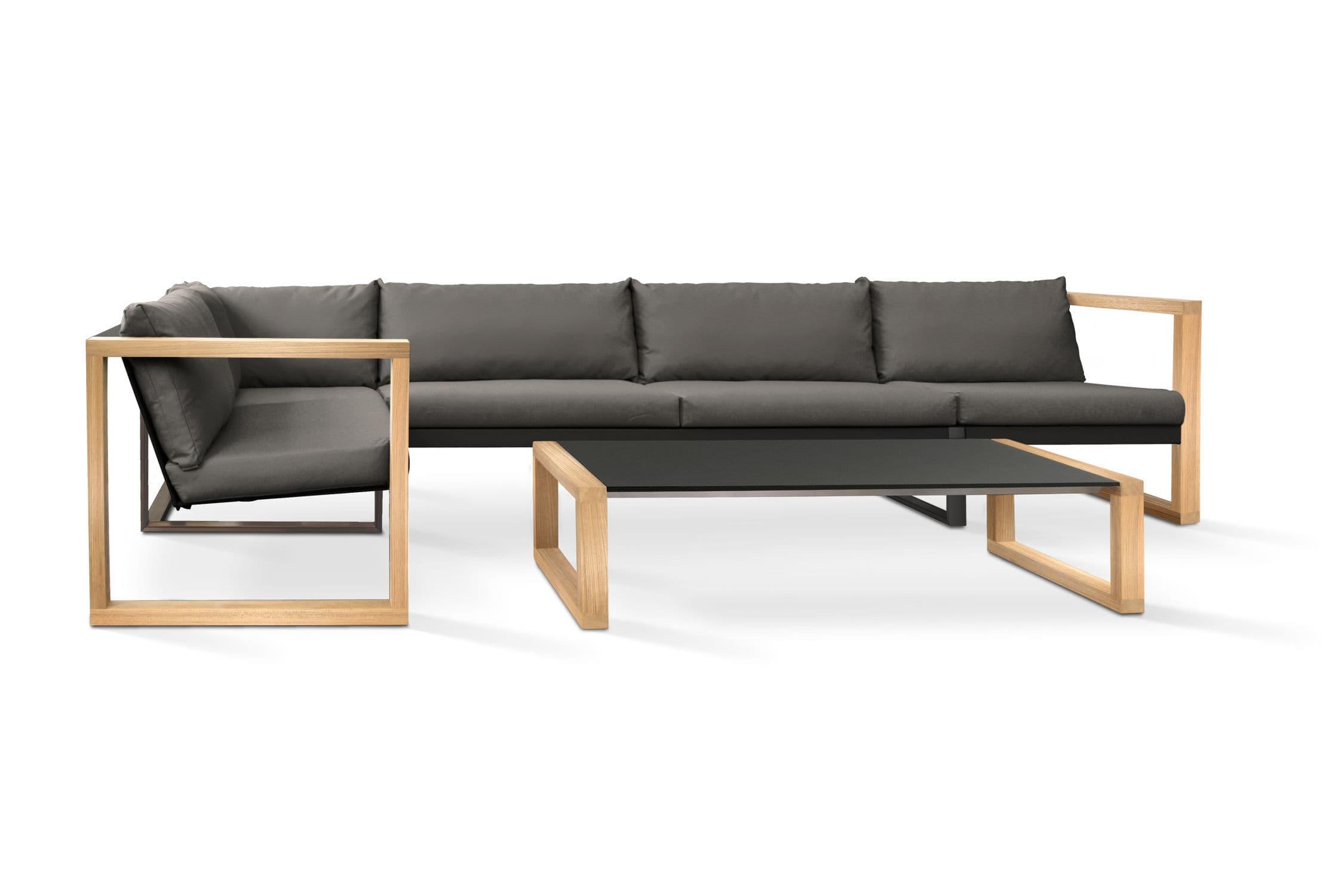 divano modulare / moderno / da giardino / in finta pelle - banca