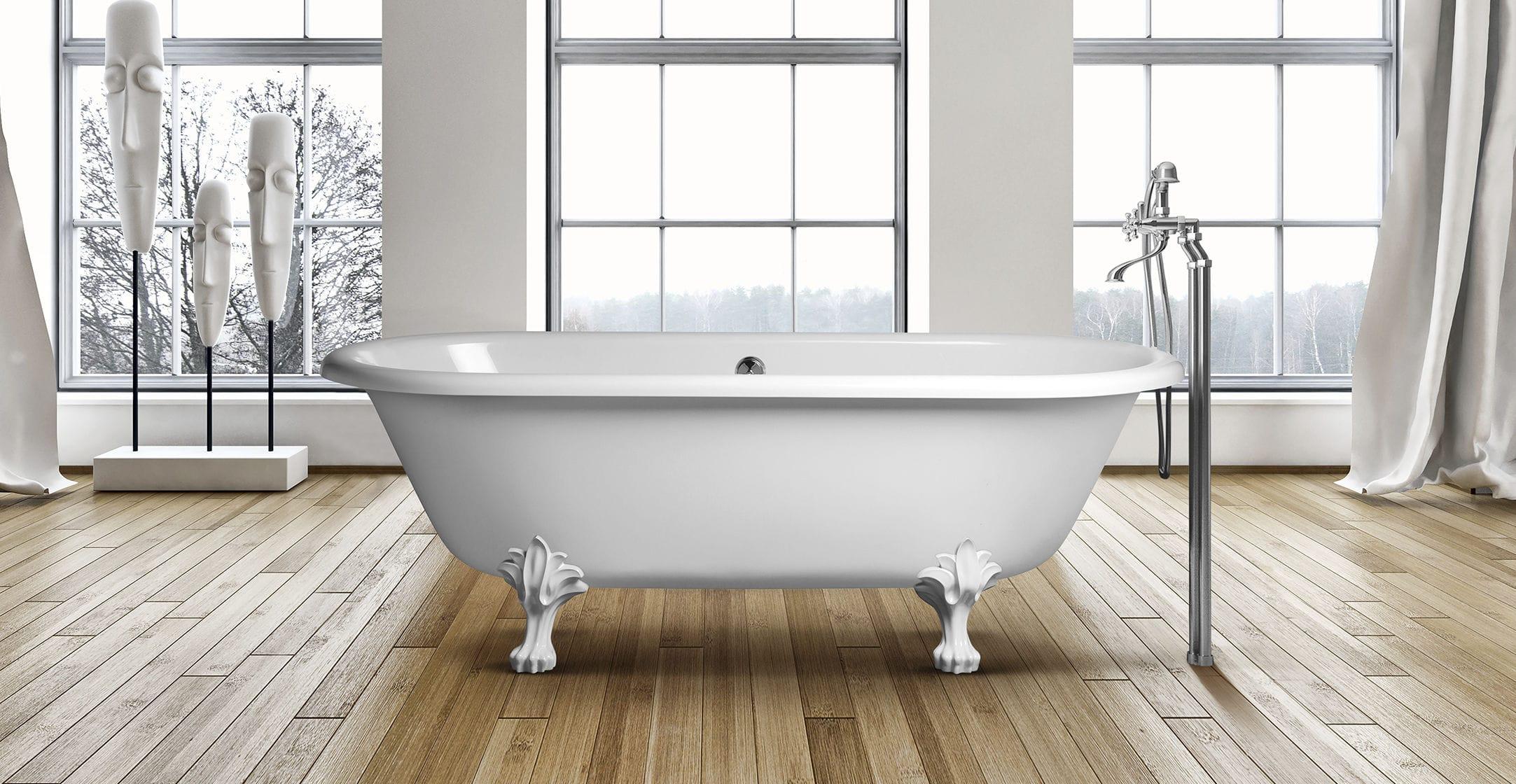 Vasca Da Bagno Retro : Vasca da bagno su piedi ovale in composito in acrilico retro