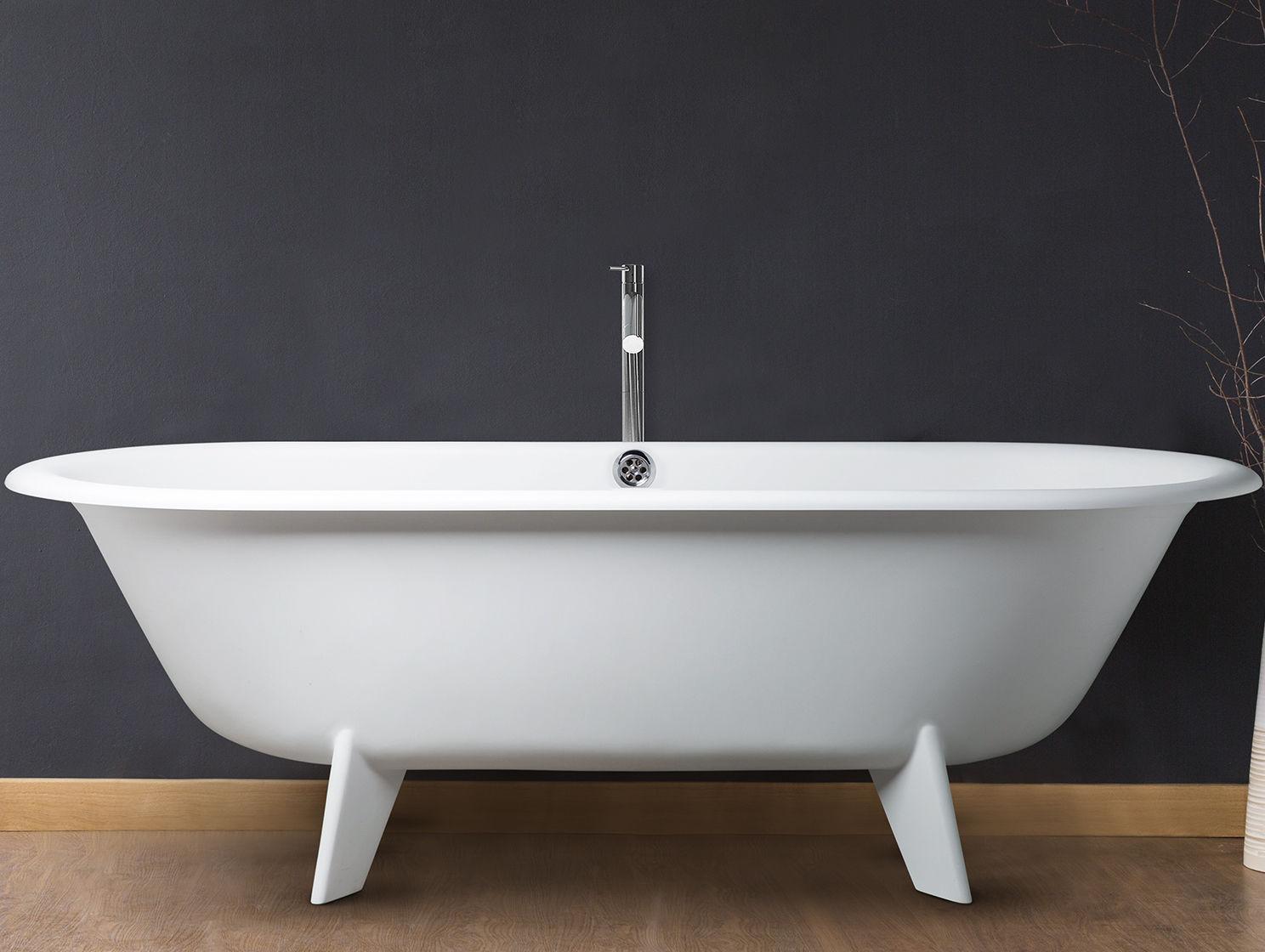 Vasca Da Bagno Retro : Vasca da bagno su piedi ovale in composito in acrilico