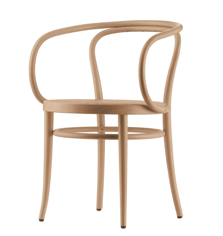 Sedia classica / imbottita / con braccioli / in tessuto - 209 - THONET