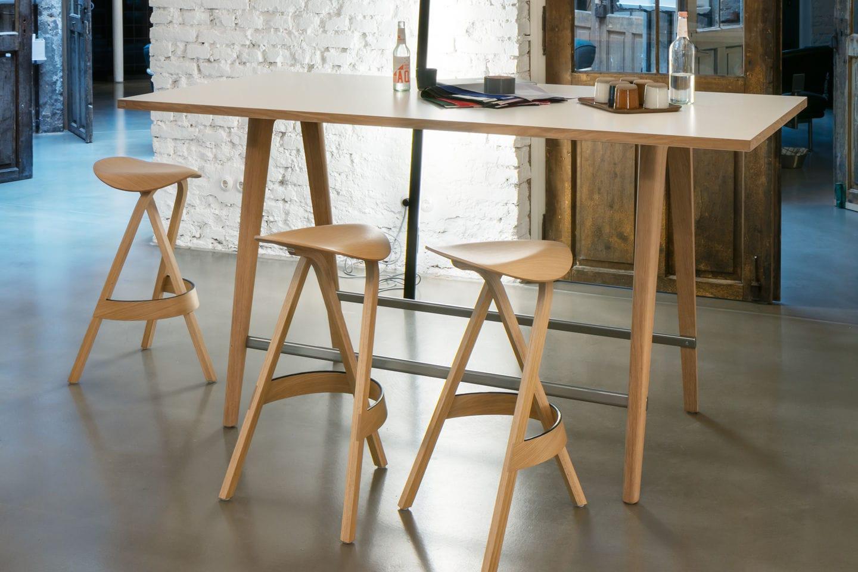 Sgabello da bar moderno in legno contract per ristorante