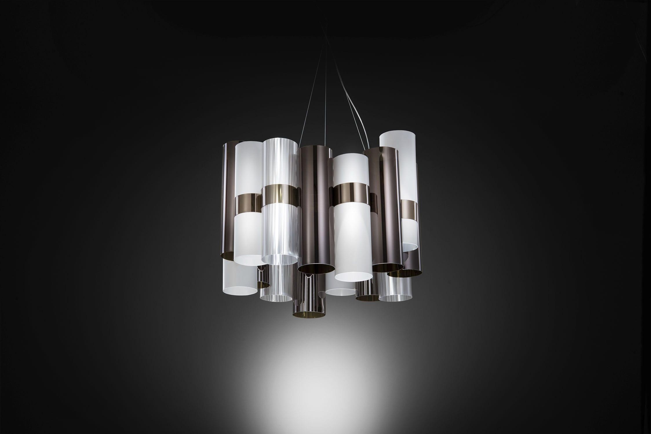 Faretti A Sospensione Design: Sospensione - metallo design oro ...