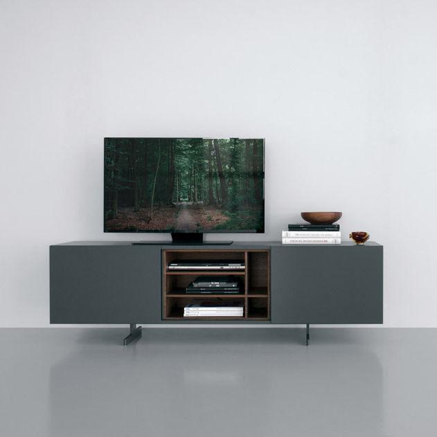 Mobile porta TV moderno / hi-fi / con moderno rotelle / in legno ...