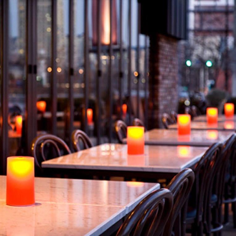 Lampada da tavolo moderna in plastica senza fili gem round