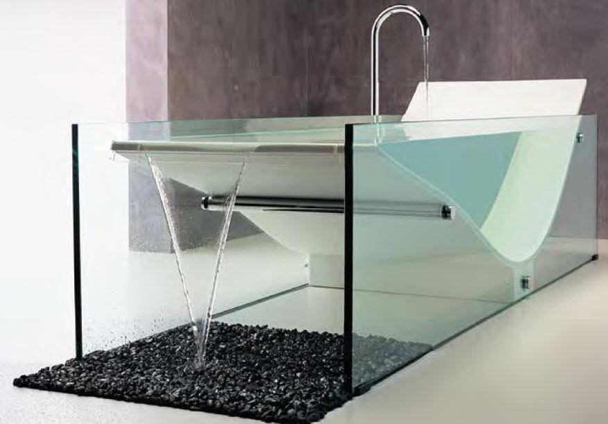 Vasca Da Bagno Vetro : Vasca da bagno da appoggio in solid surface in vetro le cob