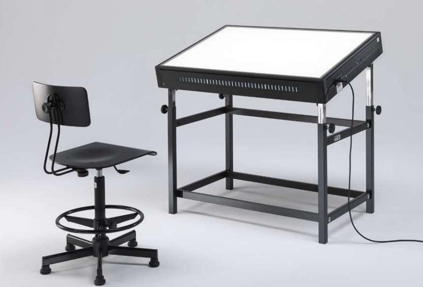 Tavolo Da Disegno Portatile : Tavolo da disegno moderno in metallo rettangolare contract