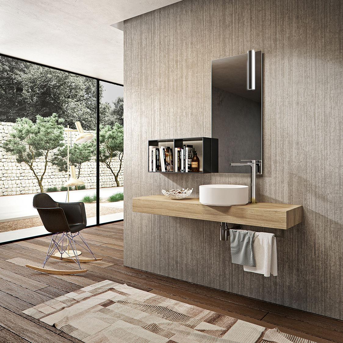 Piano lavabo in legno - GIUNONE - Agorà Group