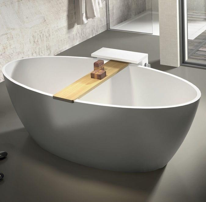 Vasca da bagno da appoggio / ovale / in pietra   space   agorà group