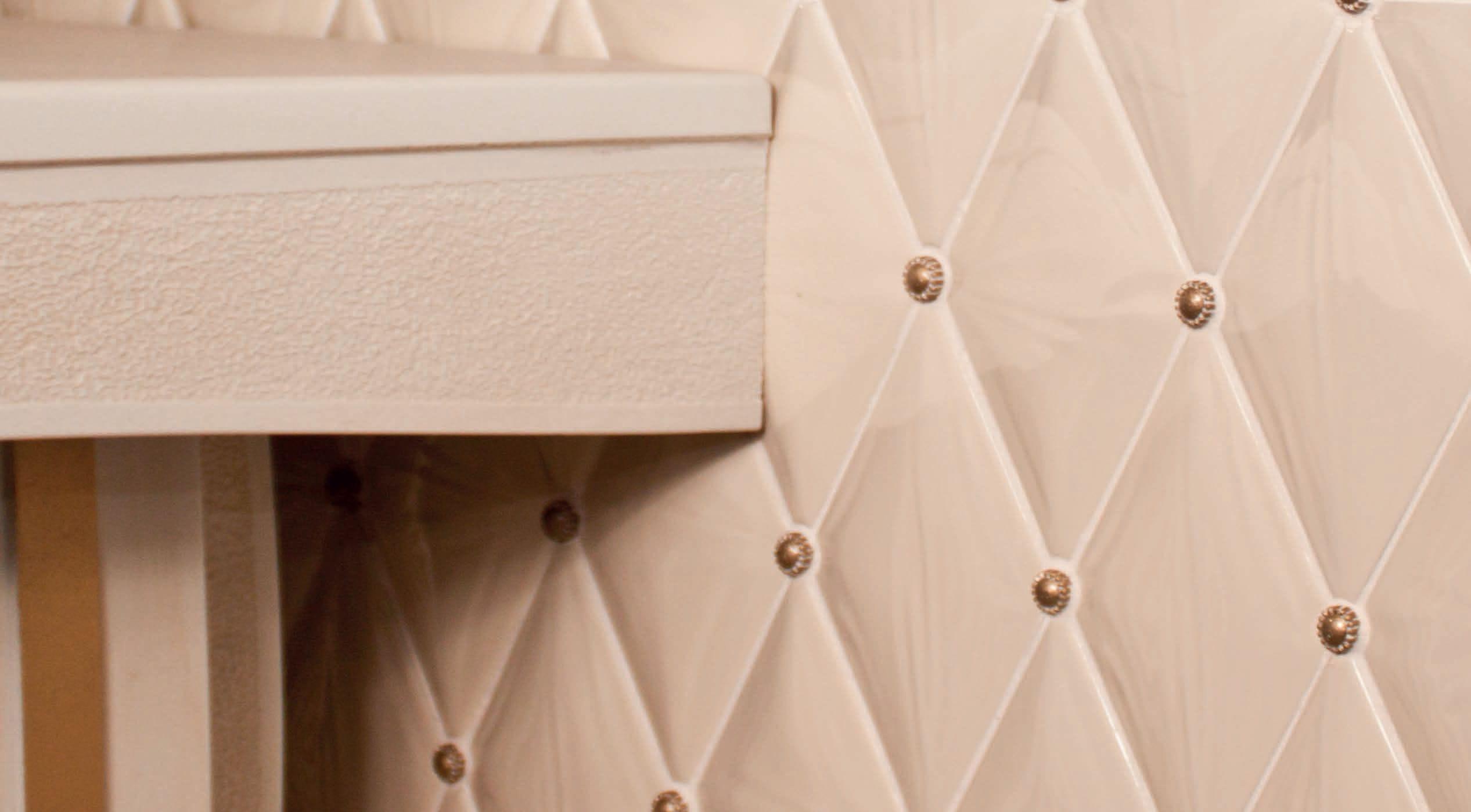 Piastrella da interno da parete in maiolica a motivi rombo