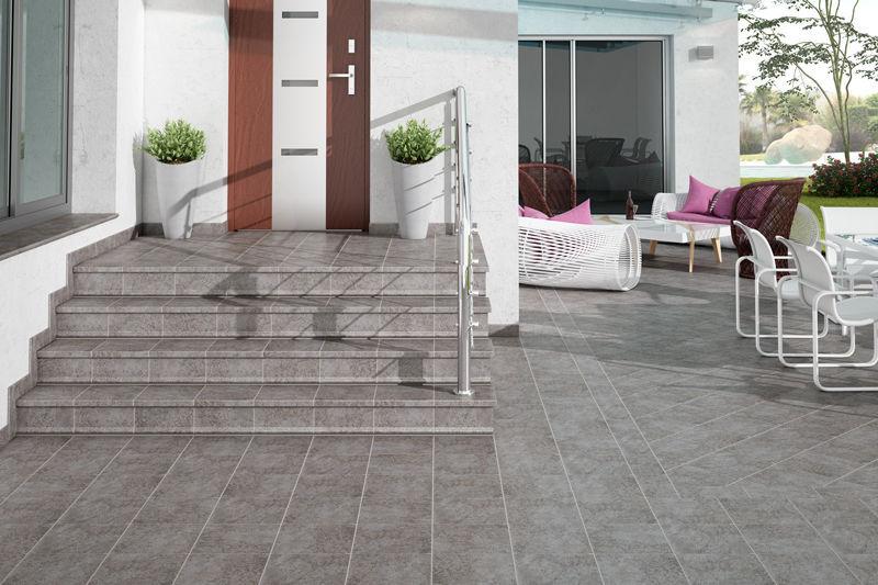 Piastrella da esterno da pavimento in ceramica rettangolare