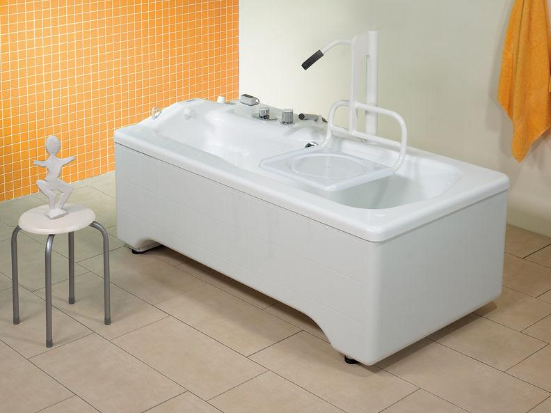 Vasca Da Bagno Altezza : Vasca da bagno su piedi in acrilico medica samarit trautwein