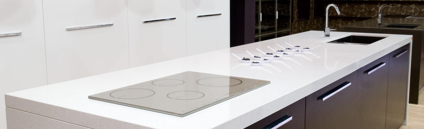 Piano di lavoro in quarzo composito / da cucina - SNOW - COMPAC The ...