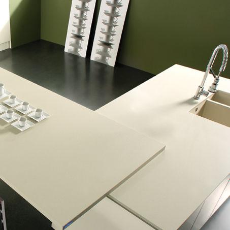 Piano di lavoro in quarzo composito / da cucina - ARENA - COMPAC The ...