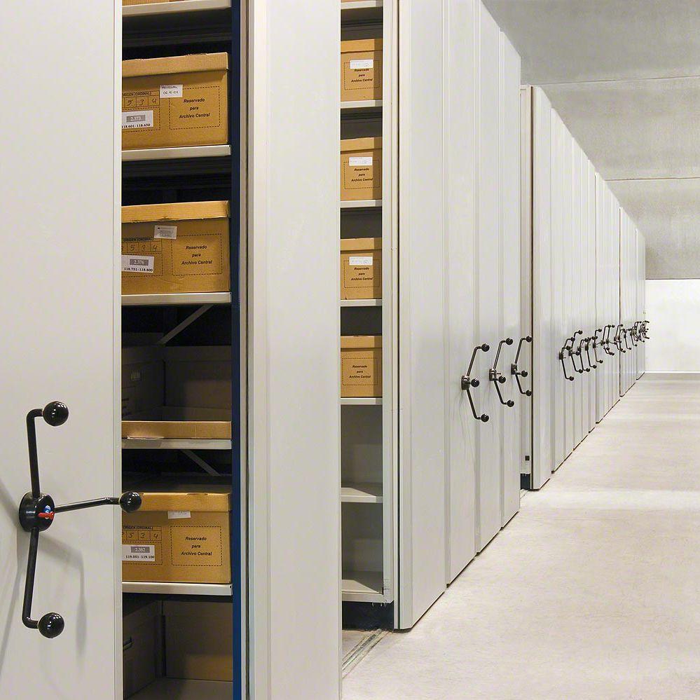 Mobili Archivio Ufficio : Scaffalatura mobile meccanica per archivio per ufficio in