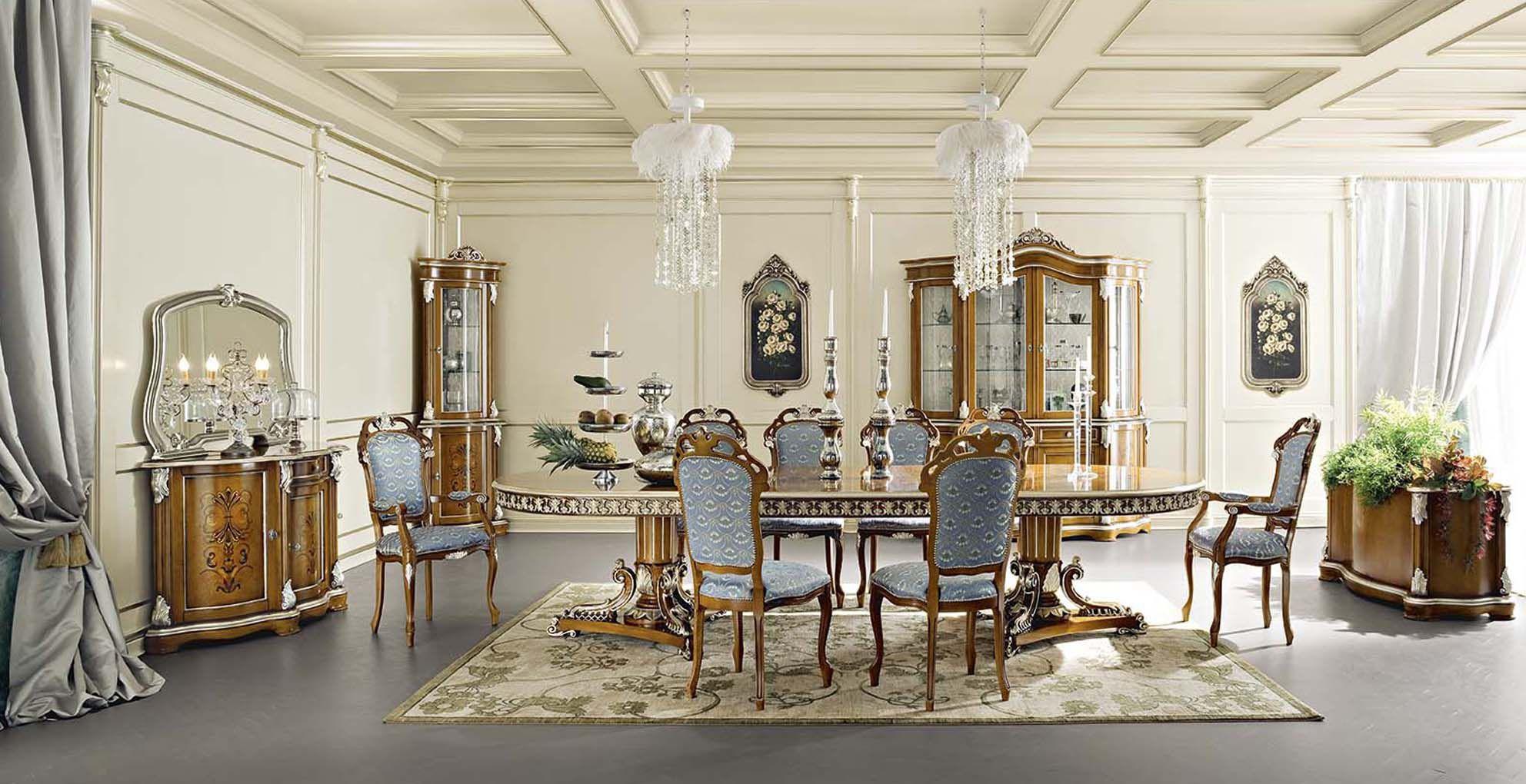 La Bella Vita Credenza : Tavolo da pranzo in stile legno rettangolare tondo bella