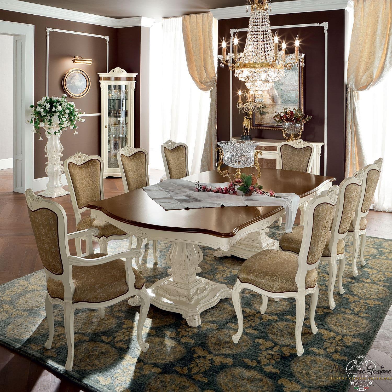 Tavolo da pranzo in stile / in legno / rettangolare / tondo - BELLA ...