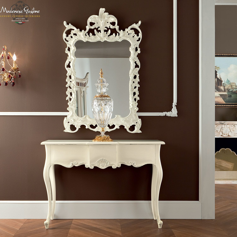Consolle in stile / in legno / con specchio - BELLA VITA - Modenese ...