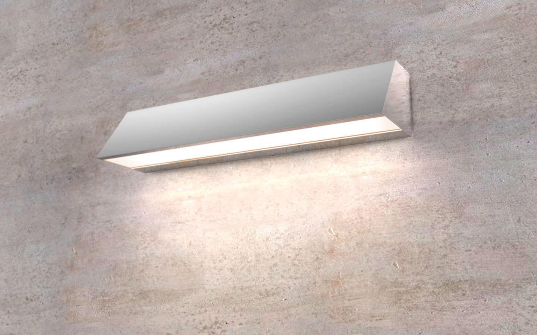 Applique moderna da esterno in acciaio inossidabile led