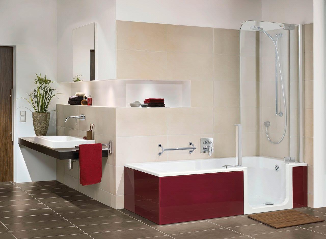 Vasca da bagno doccia da incasso rettangolare in quarzite