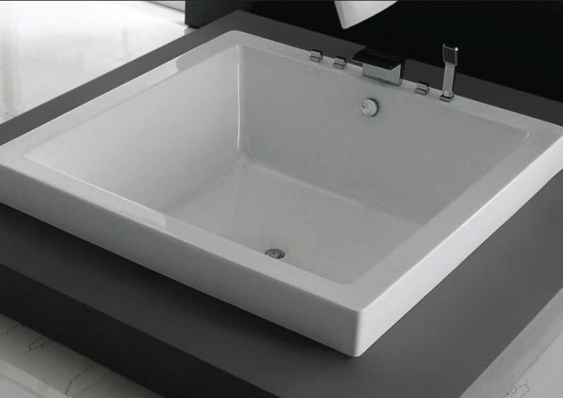 Vasche Da Bagno Quadrate : Tub la vasca da bagno quadrata in pietraluce di nic design