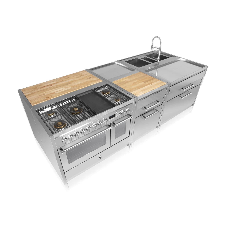 Emejing Steel Cucine Prezzi Images - Ameripest.us - ameripest.us